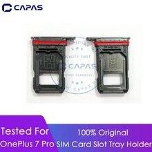 Для OnePlus 7 Pro слот для sim-карты лоток держатель для One Plus 7 Pro запасной отсек для сим-карты Запасные части