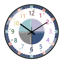 2021 Educational Wall Clock for Children Kid's Teaching Clock Learn to Tell Time for Home school Classroom Teachers and Parents