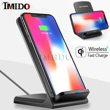 Best QI wireless charger for iphone 11 pro max xs x xr 10w qi Desktop Stand charging samsung note10+ s10 s9 s8 mi 9