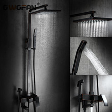Bathtub Rainfall Shower Faucets Set Bathroom Tap With Hand Sprayer Waterfall Wall torneira Head R45-507