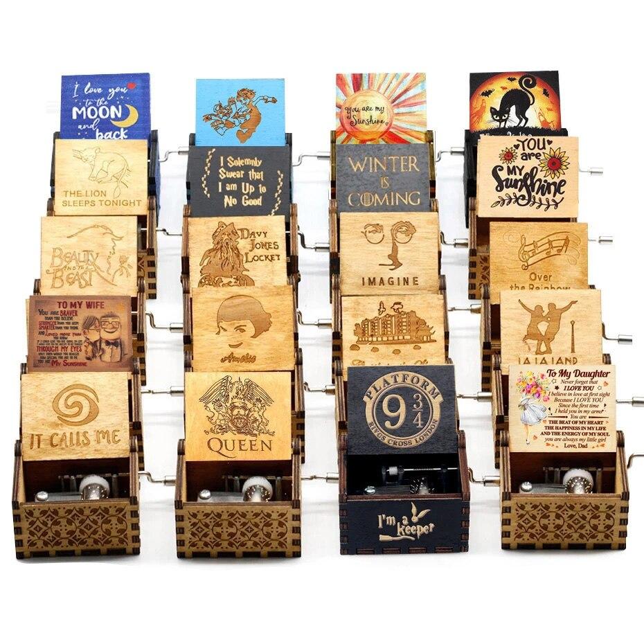 Бесплатная доставка, деревянная музыкальная шкатулка с изображением королевы, богемная Музыкальная шкатулка с изображением рапсоди, вы мо...