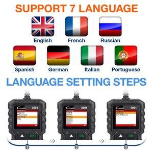Image 3 - LAUNCH X431 CR3001 OBD 2 Auto Scanner Diagnostic Tool Multi language Creader ODB2 3001 Code Reader PK ELM327 V1.5 OM123
