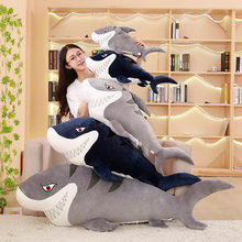 creative toy cartoon shark plush toy soft doll throw pillow Christmas gift b1349(China)