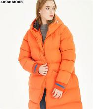 Женская зимняя длинная куртка размера плюс тонкая парка с хлопковой