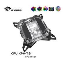 Bykski CPU-XPH-T8, bloco de água da cpu intel para lga1150 1151 1155 1156 2011 2066 1366, suporte do refrigerador da cpu rgb/A-RGB/sync