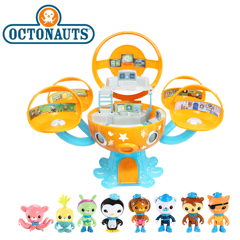 The Octonauts Octopod Gup Set Barnacles Peso Kwazii Action Figure Scene Model Toy Christmas Birthday Gifts For Children's Day