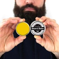 Condicionador natural de barba, bálsamo para crescimento de barba e cera bigode orgânica para barba, estilização suave tslm2