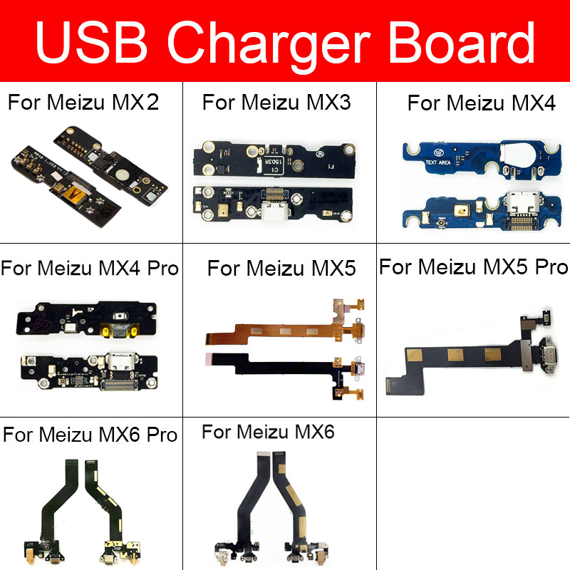 Charger USB Jack Board For Meizu MX2 MX3 MX4 MX5 MX6 Pro Charging Port Module Usb Connector Port Board Repair Replacement Parts