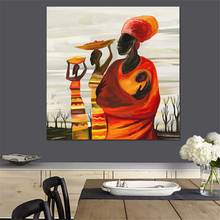 Egyptian Style Square Big Size Canvas Portrait Painting no frame Photo Prints Abstract Dinning Room Decor