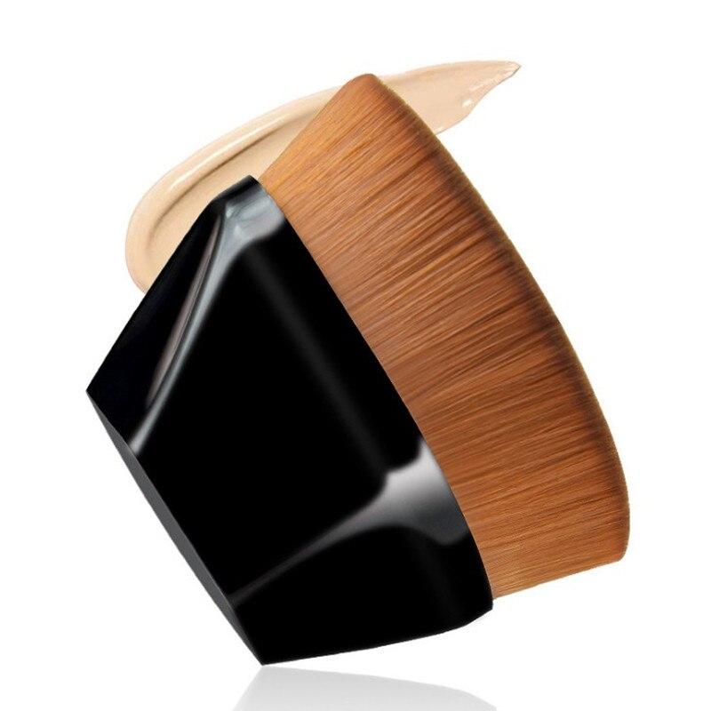 Шестигранная ромбовидная короткая ручка Волшебная основа Кисть для макияжа, высокое качество жидкий BB крем, румяна кисть для пудры
