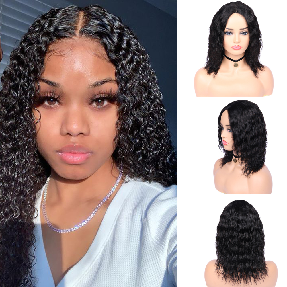 Wignee Deep Wave Short Human Hair Wig For Black Women Remy Brazilian Natural Soft Hair Pixie Cut Afro Kinky Curly Lace Human Wig