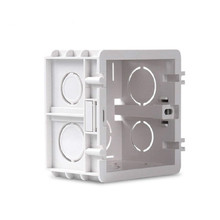 Nowy 1 5 skok 86 kaseta płyta ścienna regulowany montaż gniazdo przełącznika Box dla 86 typ pcv płyta ścienna przełącznik tanie tanio Double protection Z tworzywa sztucznego 1 5XH Pokrętło przełącznika