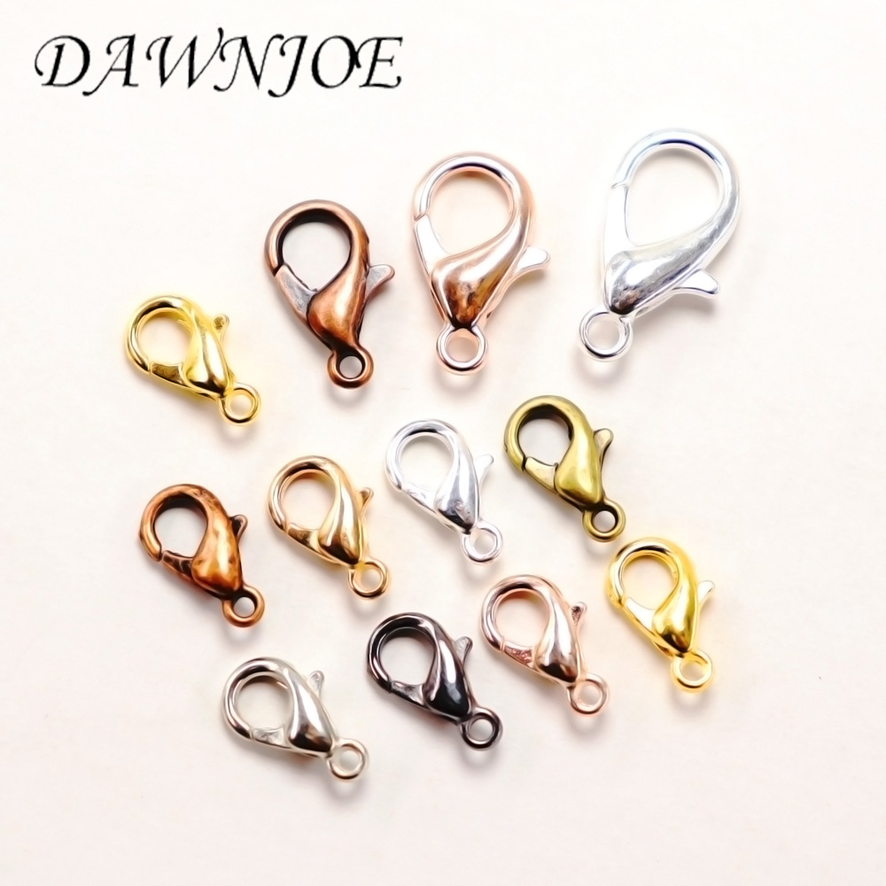 50Pcs Colorful Lobster Clasps Hooks Claw Clasp Connector For DIY Jewelry Making