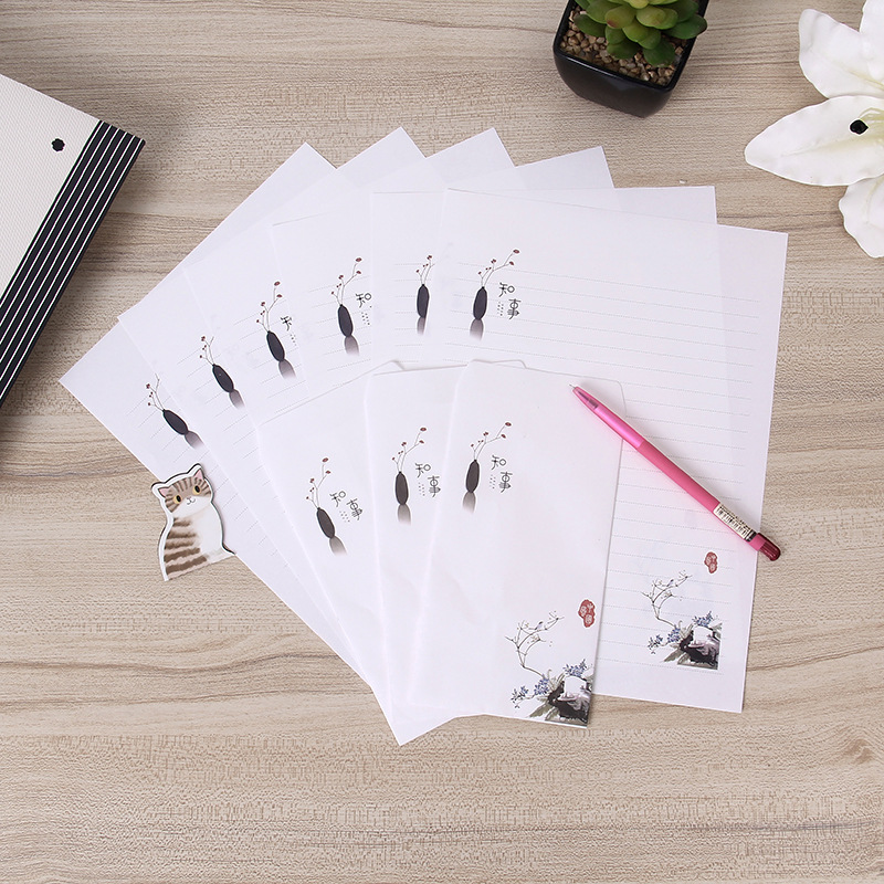 Wisdom Star Po Chinese-style Series Writing Paper Set Elk Envelope Writing Paper A Generation Of Fat Romantic Love Letter Wholes