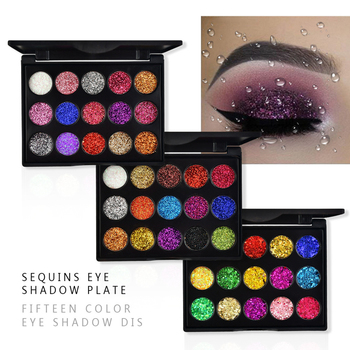 15 Colors Diamond Glitter Eyeshadow Pallete Shimmer Eye shadow Pallete Fashion Beauty Eyes MakeUp Powder Pallete Cosmetics 1