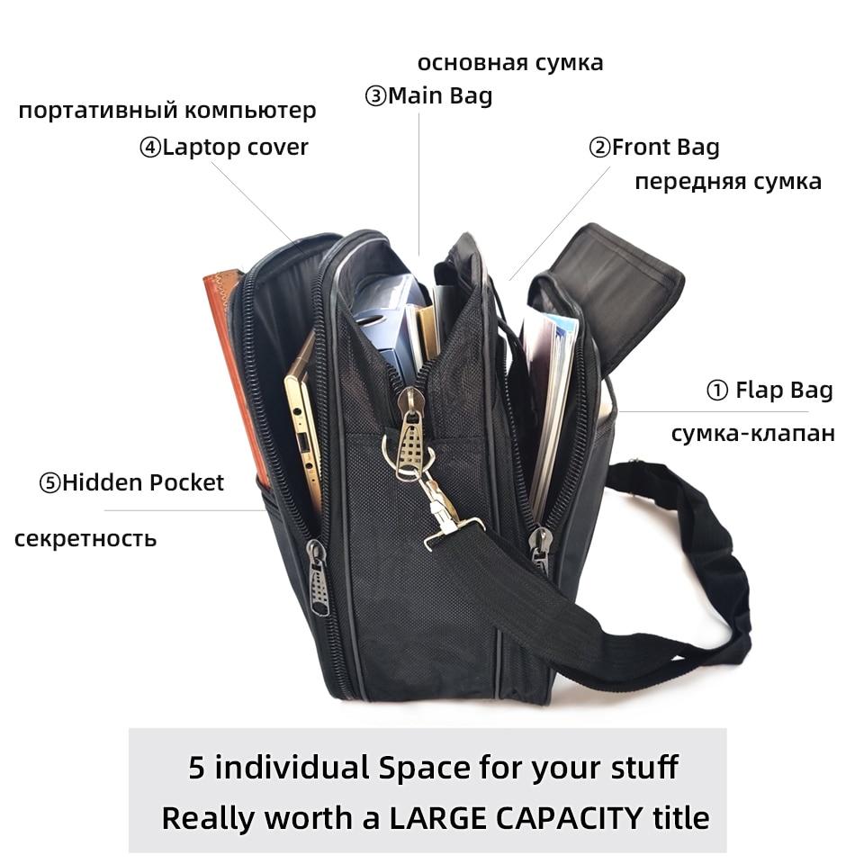 Kissyenia Brand Waterproof Nylon Laptop Briefcase Men Bag Travel Suitcase Business Laptop Men's Briefcase Bolsa Masculina KS1317