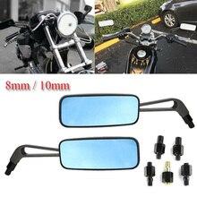 2 шт. мотоциклетные прямоугольные боковые зеркала заднего вида левая и правая часть высокое качество для Harley для Kawasaki зеркала заднего вида