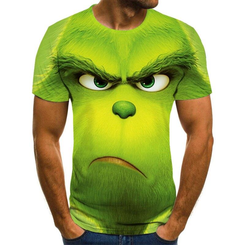 Новая футболка с 3D принтом фильма grinch, модная футболка с милым рисунком животных, мужская и женская модная одежда, футболка
