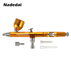 Image 4 - Airbrush Tool Dual Action Gravity Feed 0.3mm Nozzle Spray Gun Cake Decorating Brushes For Nail Manicure With Wrench Straw