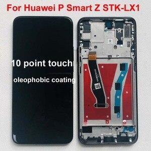 Image 1 - الأصلي أسود 6.59 بوصة لهواوي P الذكية Z STK LX1 LCD عرض تعمل باللمس محول الأرقام الجمعية أجزاء + أدوات + الأشرطة مزدوجة + إطار
