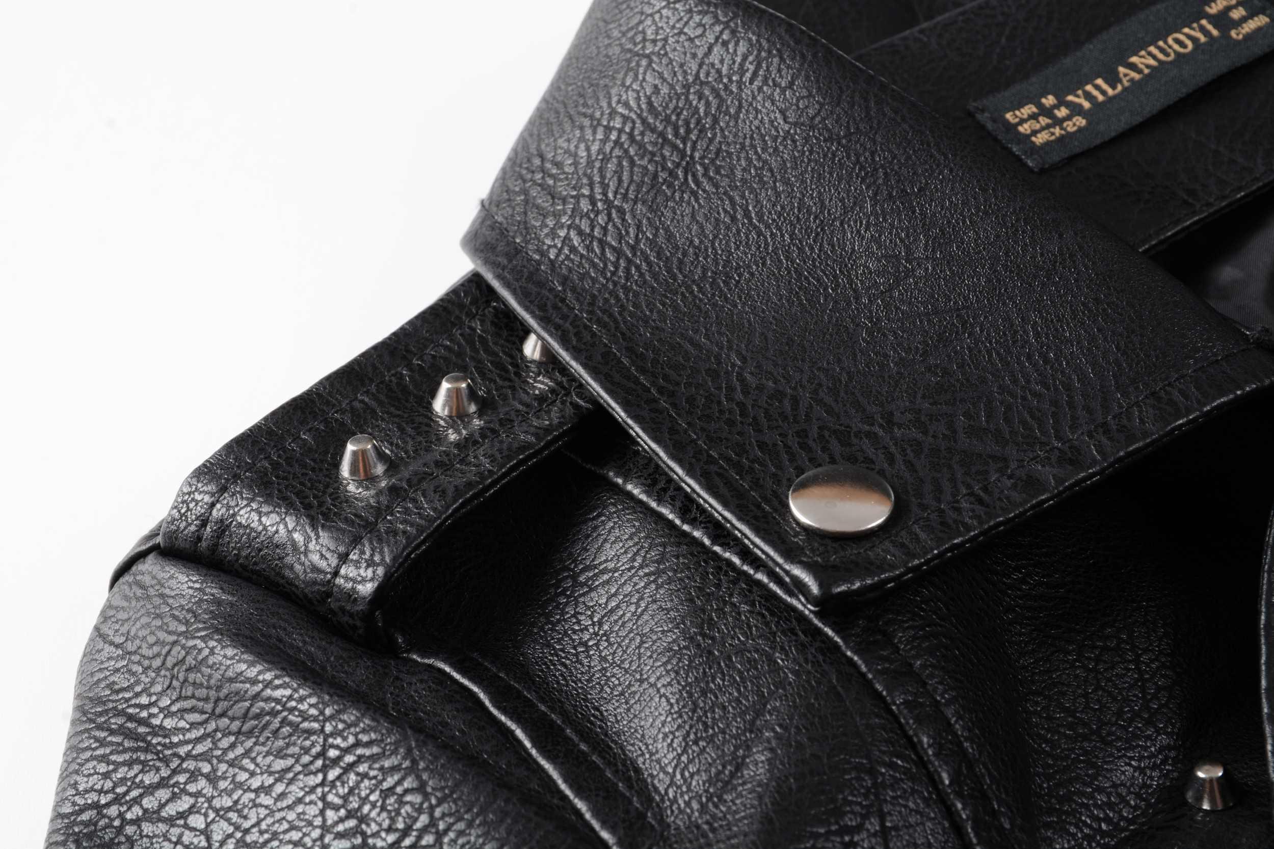 2019 Nieuwe Vrouwen Herfst Winter Faux Soft Leather Jassen Lady Zwart Pu Klinknagel Rits Epaulet 3D Print Motorfiets Streetwear