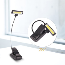 Mini COB Flexible Bright Clip Book Light 4 Modes Booklight Led Ebook Reader Reading Camping Hiking Lamp Bulb Flashlight