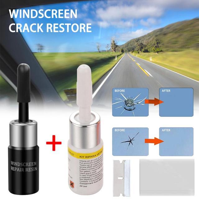 2 Pcs/Set Car Glass Nano Repair Fluid Kit Automotive Window Glass Crack Chip Repair 1