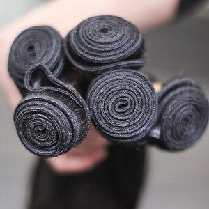 Image 5 - Rosabeauty 4 묶음/많은 10 28 인치 자연 색상 브라질 스트레이트 번들 버진 헤어 Weft 100% 인간의 머리카락 학년 10A
