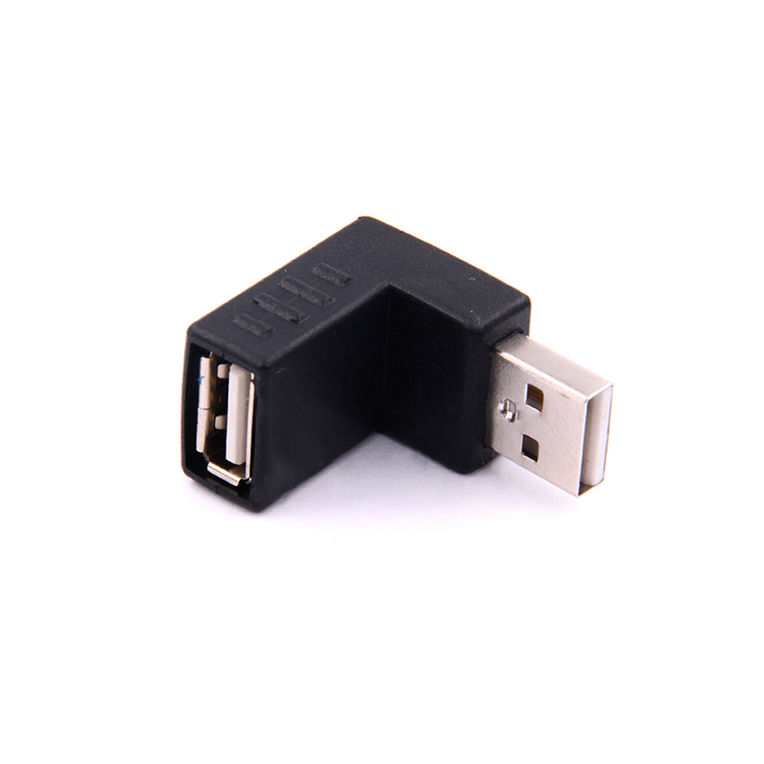 90 Degree USB Elbow Upwards Connector Adapter Male To Female USB2.0 Right Angle Upper Elbow Change Direction For Laptop Computer
