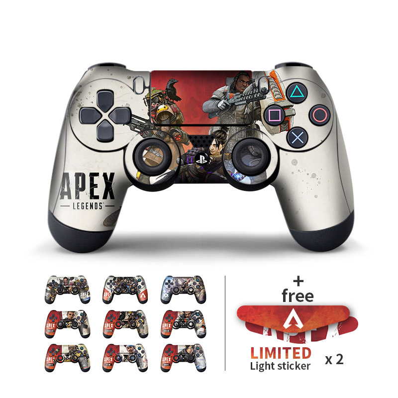 Apex Legends Skin Sticker For Sony PS4 Controller Skin Fashion Decal Accessories For PS4  Protective Cover Controller Stickers