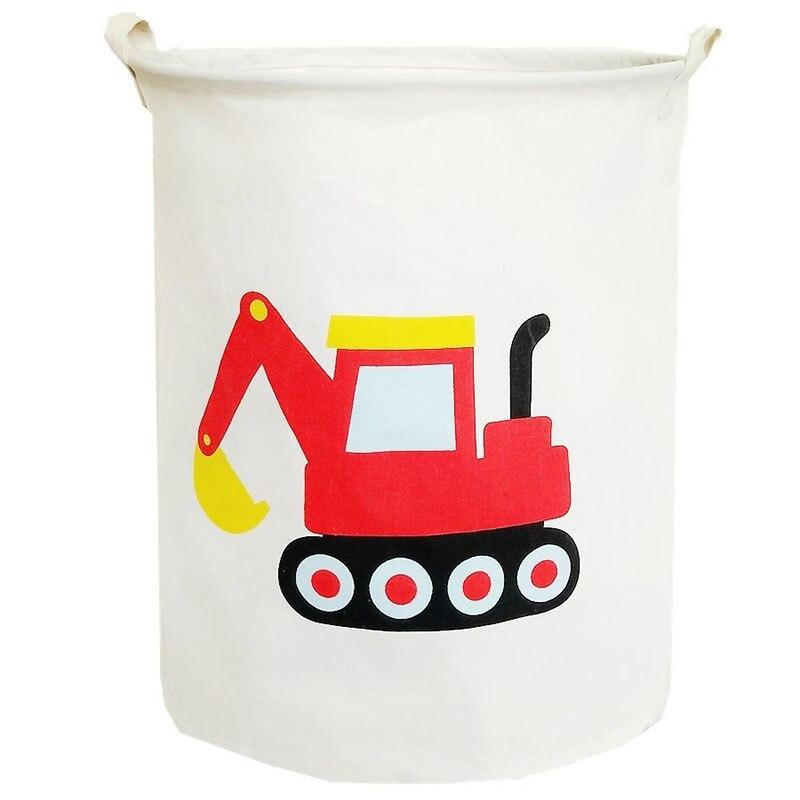 Waterproof Foldable Laundry Hamper Bucket,Bin Storage Organizer For Toy Collection,Canvas Storage Basket With Stylish Cartoon