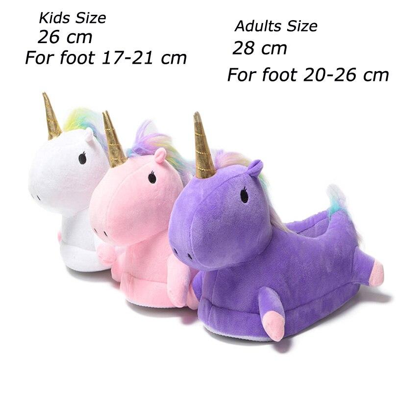 Toddler Kids Unicorn Slippers Kigurumi Onesies Pajama Baby Warm House Slippers Home Shoes Boys Girls Adult Casual Cosplay Wear