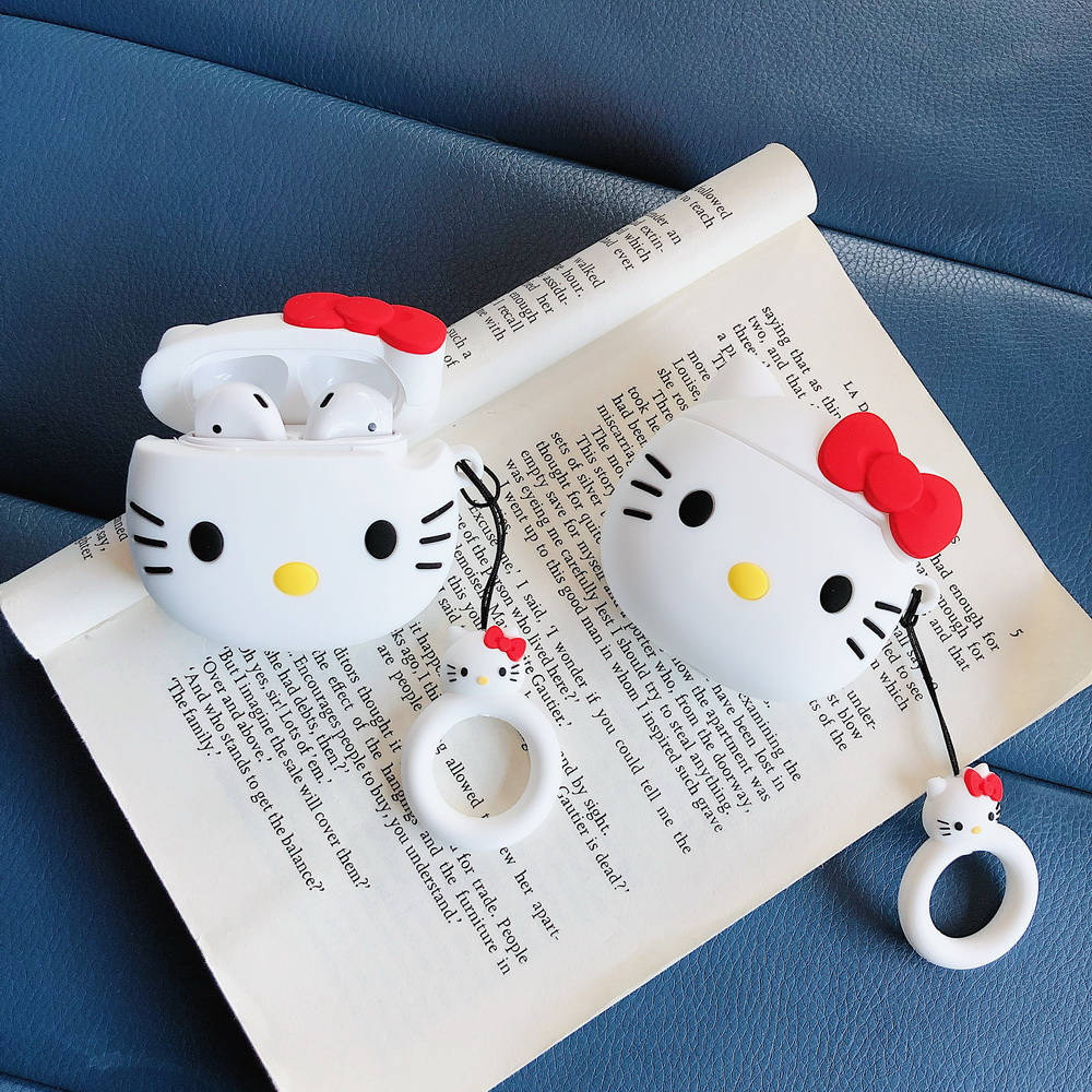 LOVERONY Cute Kitty Bluetooth Earphone 3D Silicone Case For Apple AirPods 2 1Headset Protect Cover Cartoon Air Pods Charging Box