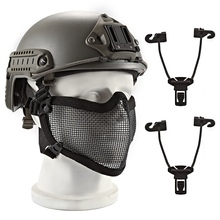 Half Face Mask Breathable Soft Folding Mesh Mouth Protector Outdoor Sports Cycling Tactical Helmet цены