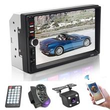 цена на 2 Din Car Radio Audio Stereo Monitor Radio Station In Car 2din Auto Multimedia Player MP5 Bluetooth USB TF FM Rear View Camera