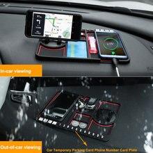 Non Slip Silikon Auto Anti-Slip Matte Auto Sticky-Halter Anti Slide Dash Telefon Montieren Parkplatz Nummer Karte auto Pad Matte Gadget