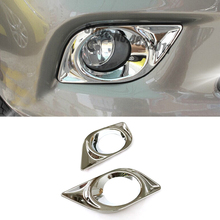 цена на For Nissan Sunny Versa Sedan accessories 2012 2013 ABS Chrome Car front fog lamp foglight frame panel Cover Trim car styling