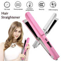 Professional Hair Straightener Curler Fast Warm-up Thermal Performance Negative Ion Infrared Hair Straighting Curling Iron