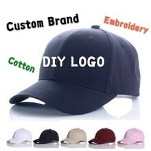 DIY Logo Baseball Cotton Flat Cap Custom-made Bucket Hat Hip Hop Child&Adult Printing Embroidery Brand Sport Men Women Snapback