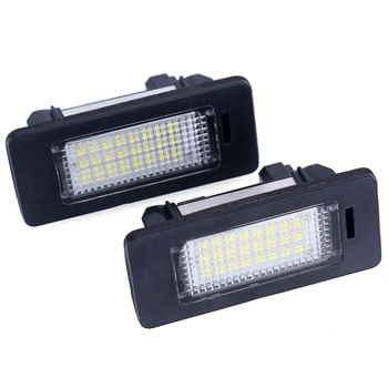 2Pcs/Pair Error Free White 18SMD LED Number License Plate Lights For BMW E39 E70 E71 X5 X6 E60 M5 E90 E92 E93 M3 License Lamp image
