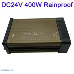 LED na zewnątrz IP54 zasilacz przeciwdeszczowy AC187-262V do DC24V 16.6A 400W LED sterownik transformatory oświetleniowe