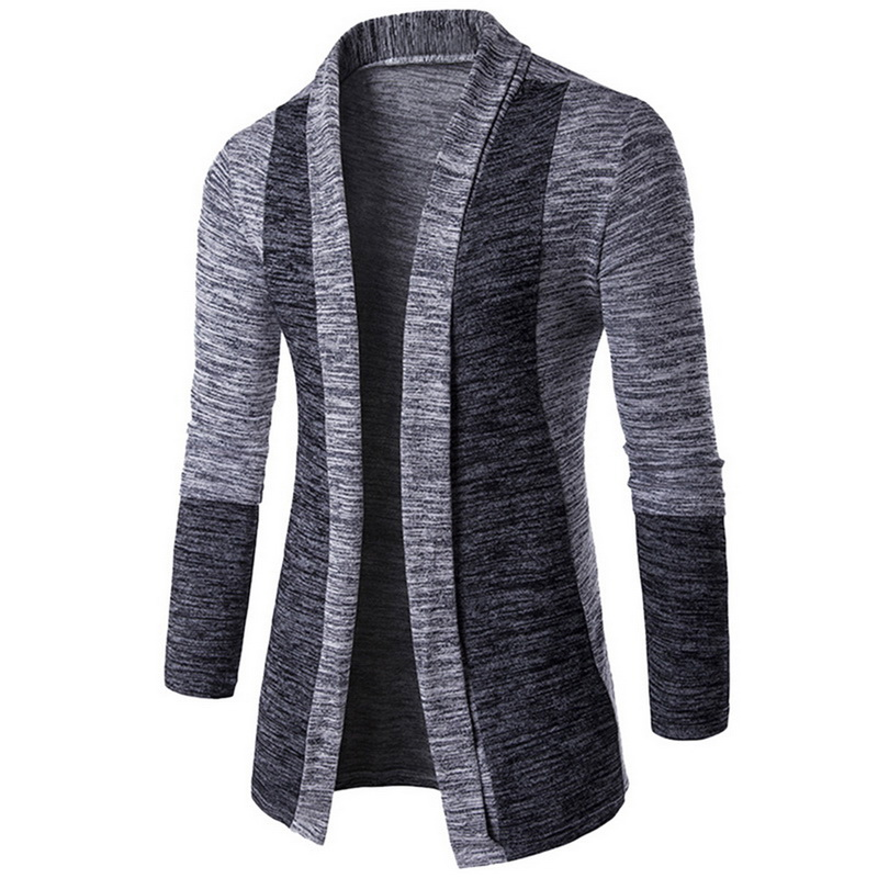 CYSINCOS Autumn Classic Cuff Hit Colors Men's Sweaters High Quality Cardigan Casual Coat 2018 New Fashion Men Sweaters Knitwear