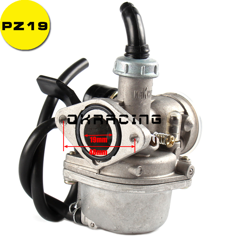 PZ19 Cable Choke Carburetor 19mm Carb 100cc 110cc ATV Quad Dirt Pit Bike Go Kart