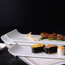 Белые керамические тарелки блюда для еды бар отеля арт дизайн тарелки для стейков столовая посуда аксессуары