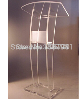 Transparent Acrylic Church Platform Perspex Church Rostrum Plexiglass Church Lectern Church Lectern