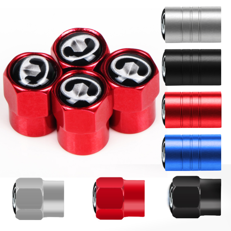 4pcs Car Wheel Tire Valves Tyre Air Caps Case Car Sticker For Great Wall Haval Hover H3 H5 Car Accessories
