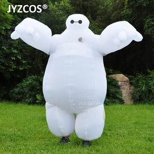 Image 2 - Jyzcos大人インフレータブルbaymax衣装ハロウィンコスプレ衣装新ビッグヒーロー 6 マスコットコスチュームパーティーファンシードレス男性の女性のため