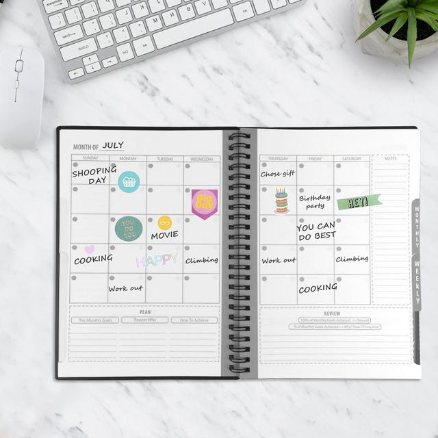 A5 size Erasable Notebook Reusable Smart Notebook Cloud Storage Flash Storage Reusable Planner Weekly Monthly Yearly & DAY DATE