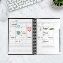 Rozmiar A5 wymazywalny Notebook wielokrotnego użytku inteligentny Notebook przechowywanie w chmurze pamięć Flash wielokrotnego użytku Planner tygodniowy miesięczny roczny i dzień data