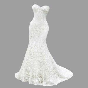 An033 2020 nowych moda Sweetheart suknia ślubna luksusowe pełny biały koronkowe suknie ślubne suknia w stylu syreny De Mariage